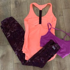 2 pc SET - Leggings & Old Navy Active Tank Small